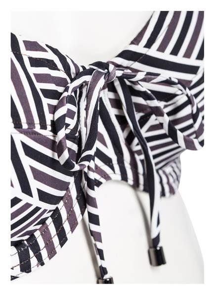 bikini Cyell Deco Schwarz Art top Weiss Braun Bügel fnA615
