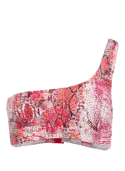 CYELL One-Shoulder-Bikini-Top SAHARA SANGRIA, Farbe: ROT/ WEISS (Bild 1)