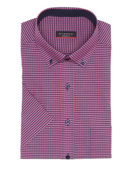 ETERNA Halbarm-Hemd Modern Fit, Farbe: DUNKELROT/ BLAU KARIERT (Bild 1)