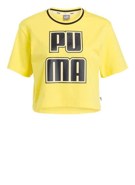 PUMA T-Shirt REBEL RELOAD, Farbe: GELB (Bild 1)