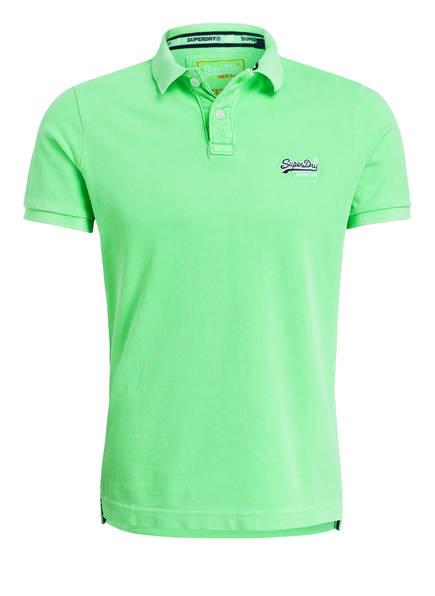 Superdry Piqué-Poloshirt HYPER , Farbe: LIME (Bild 1)