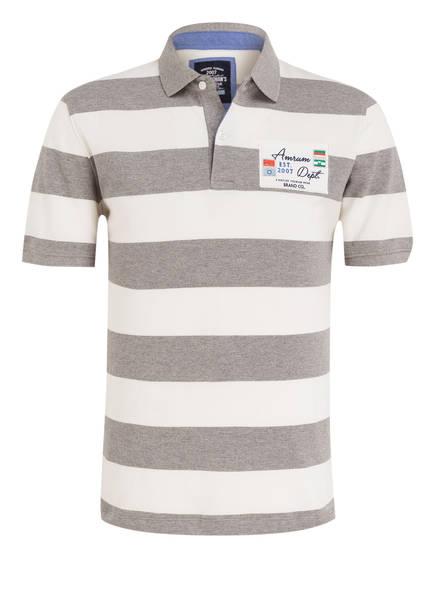 STROKESMAN'S Piqué-Poloshirt, Farbe: WEISS/ GRAU GESTREIFT (Bild 1)