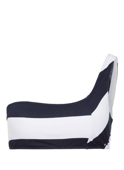 TOMMY HILFIGER Bandeau-Bikini-Top, Farbe: NAVY/ WEISS (Bild 1)