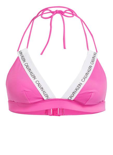 Calvin Klein Triangel-Bikini-Top CK LOGO, Farbe: PINK (Bild 1)