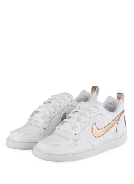 Nike Sneaker COURT BOROUGH, Farbe: WEISS/ GOLD (Bild 1)