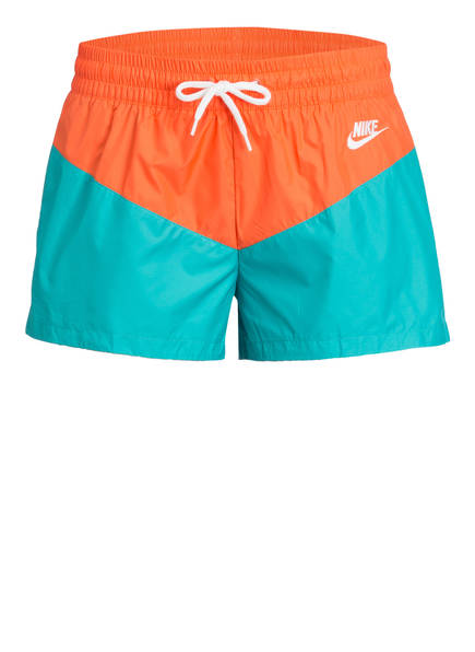 Nike Trainingsshorts HERITAGE, Farbe: ORANGE/ TÜRKIS (Bild 1)