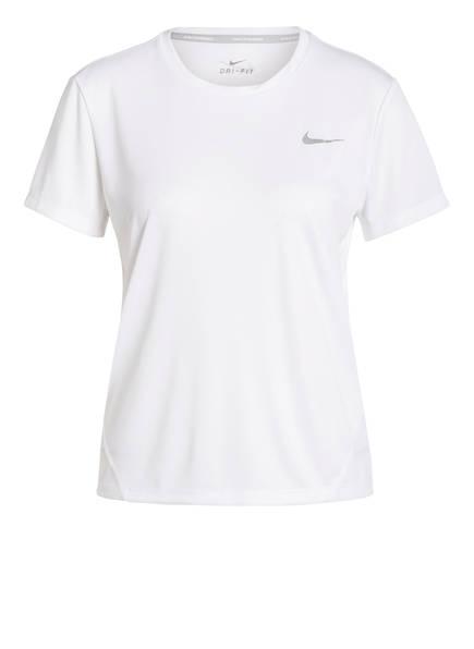 Nike Laufshirt MILER, Farbe: WEISS (Bild 1)