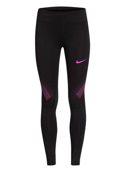 Nike Tights FAST, Farbe: SCHWARZ/ PINK (Bild 1)