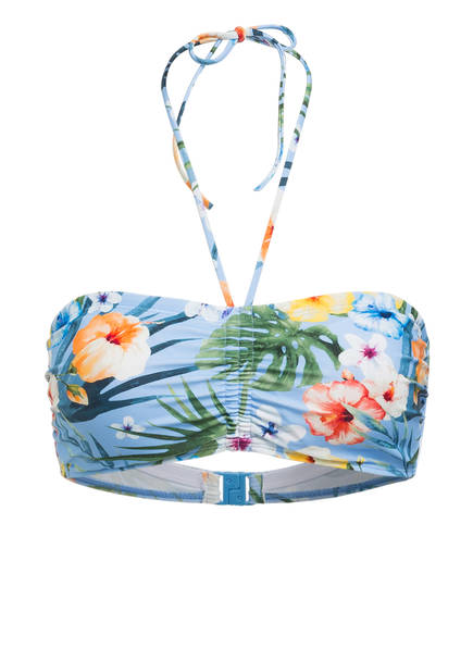 Hot Stuff Bandeau-Bikini-Top , Farbe: HELLBLAU/ GRÜN/ ORANGE (Bild 1)