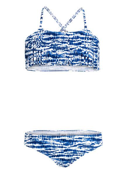 Hot Stuff Bustier-Bikini, Farbe: WEISS/ BLAU (Bild 1)