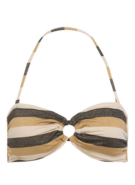 SEAFOLLY Bandeau-Bikini-Top SUNSET STRIPE , Farbe: GOLD/ BEIGE (Bild 1)