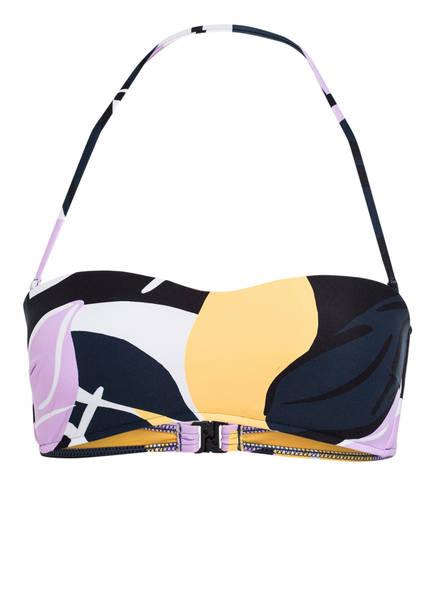 SEAFOLLY Bandeau-Bikini-Top CUT COPY, Farbe: BLAU/ GELB/ FLIEDER (Bild 1)