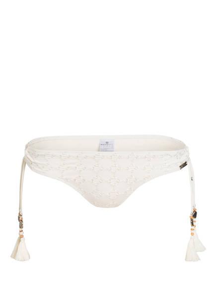 watercult Bikini-Hose BEACH BROIDERIE mit Lochstickerei, Farbe: CREME (Bild 1)