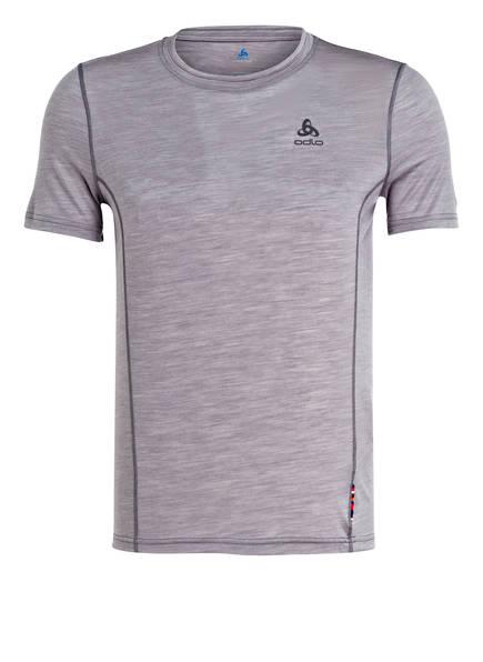 odlo T-Shirt NATURAL + LIGHT mit Merinowolle, Farbe: HELLGRAU MELIERT (Bild 1)