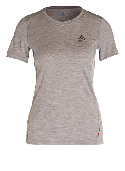 odlo Funktionwäsche-Shirt NATURAL aus Merinowolle, Farbe: HELLGRAU MELIERT (Bild 1)