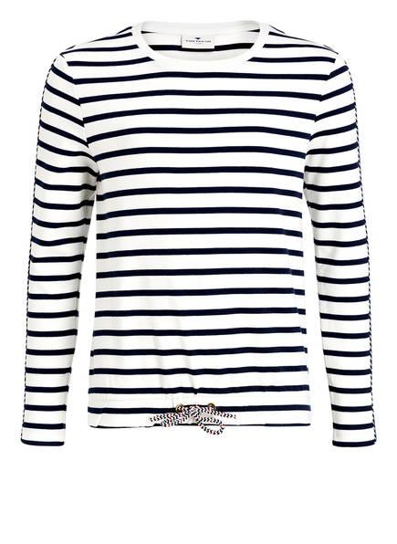TOM TAILOR Sweatshirt, Farbe: WEISS/ BLAU GESTREIFT (Bild 1)