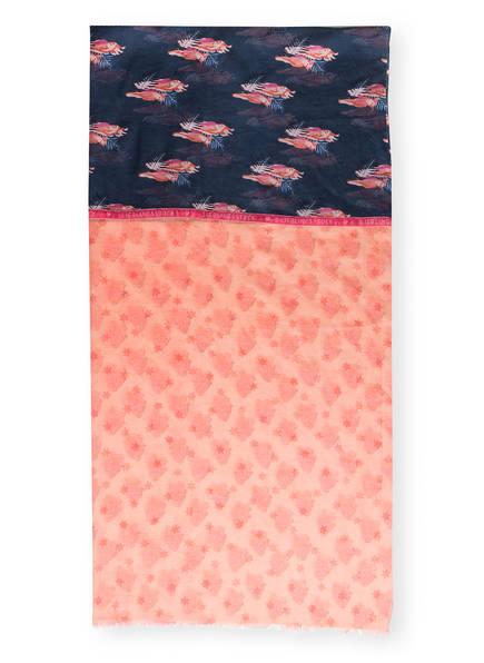LIEBLINGSSTÜCK Schal, Farbe: ROSA/ LACHS/ DUNKELBLAU (Bild 1)