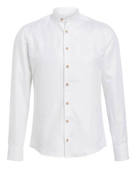 CocoVero Trachtenhemd FINLEY Slim Fit mit Leinenanteil , Farbe: WEISS (Bild 1)