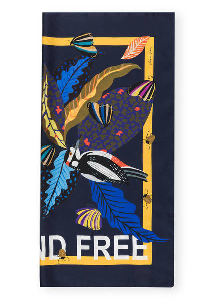 MARCCAIN Seidentuch WILD AND FREE, Farbe: NAVY (Bild 1)