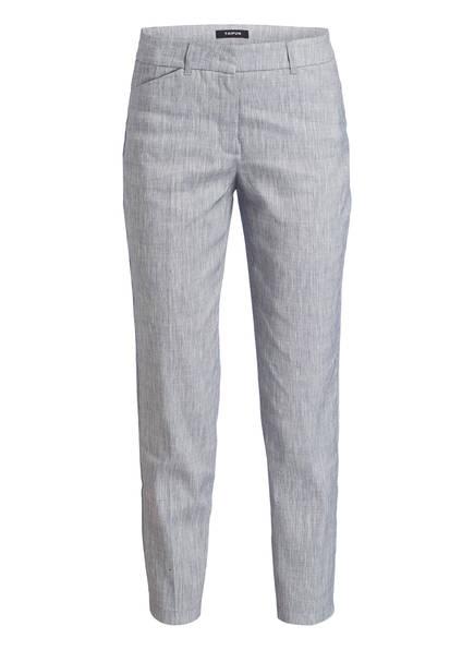 TAIFUN Hose mit Leinenanteil, Farbe: BLAU/ WEISS (Bild 1)