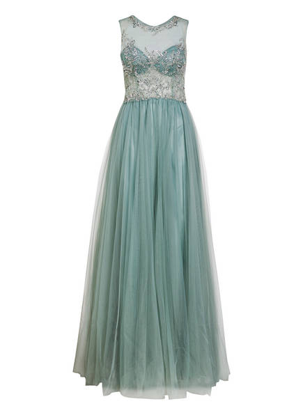 CHRISTIAN KOEHLERT Abendkleid mit Perlenbesatz, Farbe: HELL GRÜN (Bild 1)