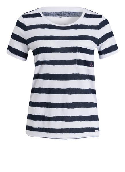 Marc O'Polo DENIM T-Shirt, Farbe: WEISS/ DUNKELBLAU GESTREIFT (Bild 1)
