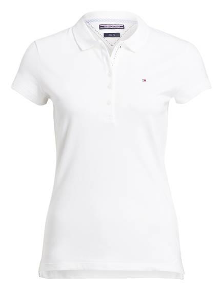 TOMMY HILFIGER Piqué-Poloshirt NEW CHIARA, Farbe: WEISS (Bild 1)