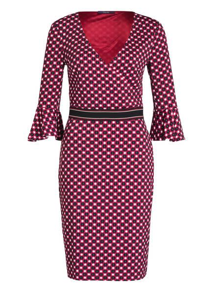 Laurèl Jerseykleid mit 3/4-Arm, Farbe: DUNKELROT/ WEISS (Bild 1)