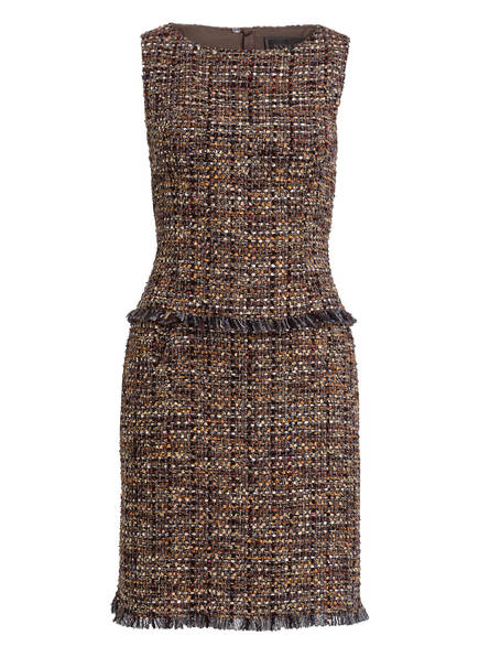 NVSCO Tweed-Kleid JOLIE, Farbe: BRAUN/ GRAU/ BEIGE (Bild 1)