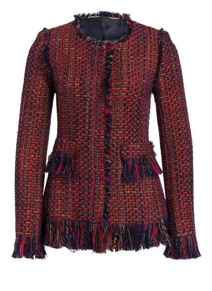 NVSCO Tweed-Blazer POLLY, Farbe: FUCHSIA/ DUNKELBLAU/ ORANGE (Bild 1)