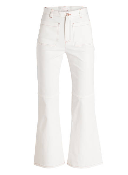 SEE BY CHLOÉ Flared-Jeans, Farbe: WEISS (Bild 1)