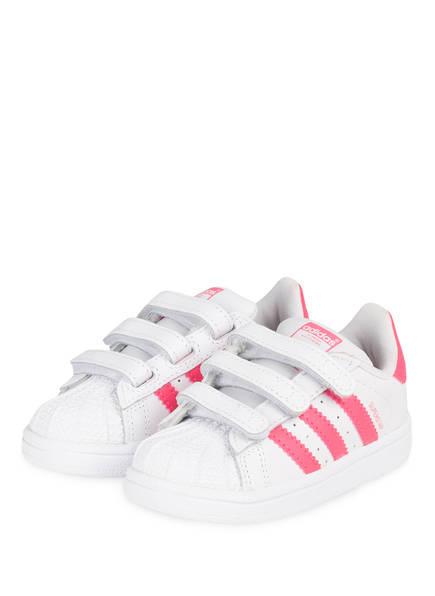 adidas Originals Sneaker SUPERSTAR , Farbe: WEISS/ PINK (Bild 1)