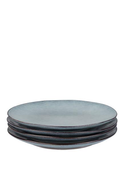 BROSTE COPENHAGEN 4er-Set Speiseteller , Farbe: NORDIC SEA (Bild 1)