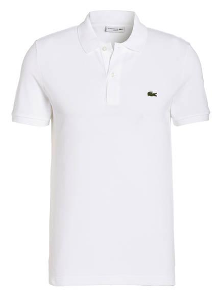 LACOSTE Piqué-Poloshirt Slim Fit, Farbe: WEISS (Bild 1)