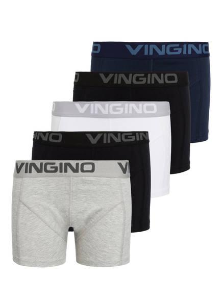 VINGINO 5er-Pack Boxershorts, Farbe: BLAU/ WEISS/ GRAU/ SCHWARZ (Bild 1)
