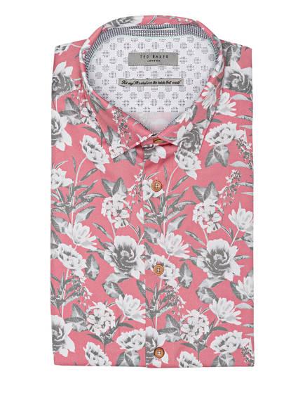 TED BAKER Halbarm-Hemd PEACHY Slim Fit, Farbe: HELLROT/ CREME/ GRAU (Bild 1)