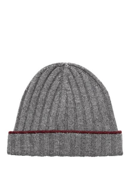 BRUNELLO CUCINELLI Cashmere-Mütze, Farbe: GRAU MELIERT (Bild 1)
