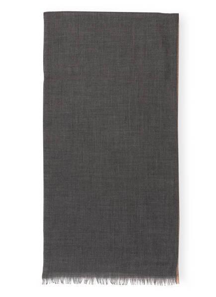 BRUNELLO CUCINELLI Schal mit Cashmere-Anteil, Farbe: GRAU/ HELLBRAUN (Bild 1)