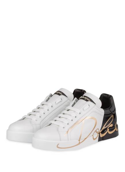 DOLCE&GABBANA Sneaker PORTOFINO, Farbe: SCHWARZ/ WEISS (Bild 1)