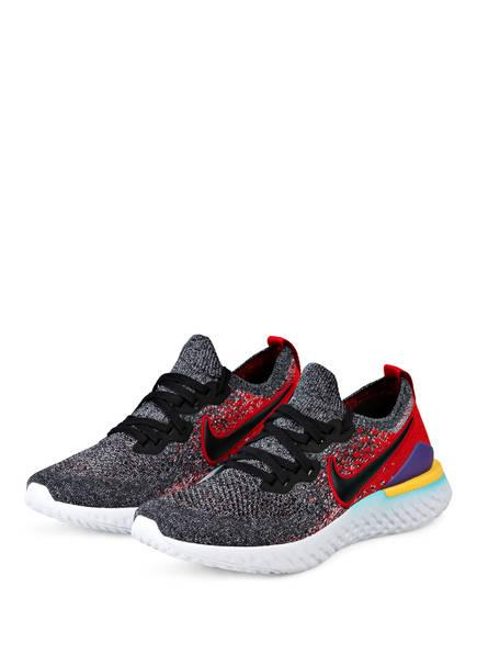 Nike Laufschuhe EPIC REACT FLYKNIT 2, Farbe: SCHWARZ/ ROT (Bild 1)