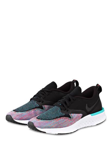 Nike Laufschuhe ODYSSEY REACT FLYKNIT 2, Farbe: SCHWARZ/ ROSA/ TÜRKIS (Bild 1)