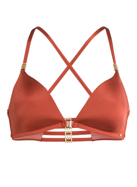 Skiny Sunset Glamour Triangel-Bikini-Top SHINY DESERT, Farbe: LACHS (Bild 1)