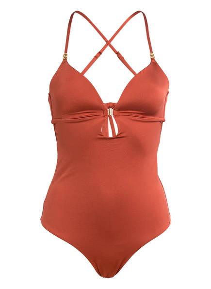 Skiny Sunset Glamour Badeanzug SHINY DESERT, Farbe: LACHS (Bild 1)