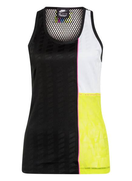 Nike Tanktop mit Mesh-Einsätzen, Farbe: SCHWARZ/ GELB/ WEISS (Bild 1)