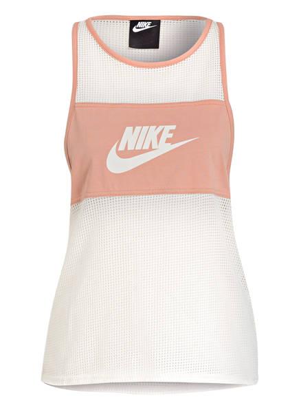 Nike Tanktop mit Mesh-Einsätzen, Farbe: ROSE/ CREME (Bild 1)