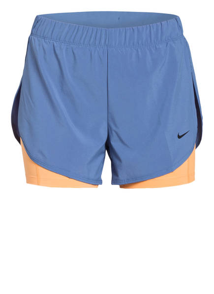 Nike 2-in-1 Shorts FLEX, Farbe: ORANGE/ BLAU (Bild 1)
