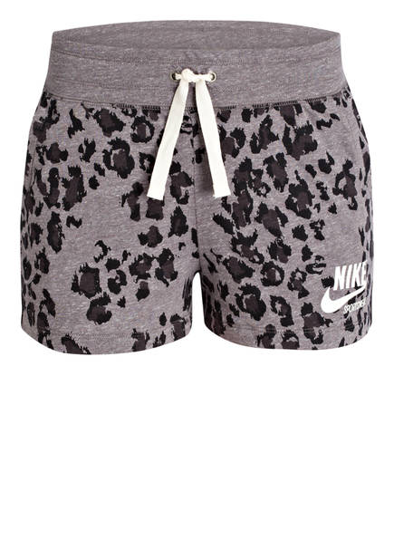 Nike Sweatshorts GYM VINTAGE, Farbe: GRAU/ SCHWARZ GEMUSTERT (Bild 1)