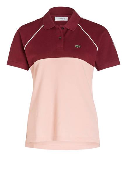 LACOSTE Piqué-Poloshirt, Farbe: DUNKELROT/ ROSA (Bild 1)