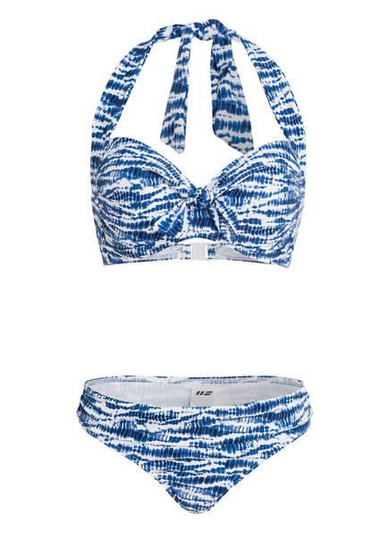 Hot Stuff Neckholder-Bikini BATIK , Farbe: BLAU/ WEISS (Bild 1)