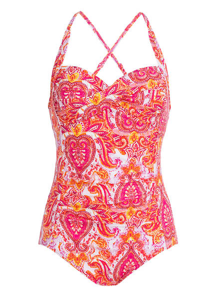 Hot Stuff Badeanzug PINK PAISLEY , Farbe: PINK/ ORANGE (Bild 1)